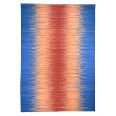 Handwoven Durie Kilim Pure Wool Gradient Design Oriental Rug