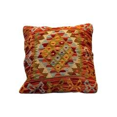 Handwoven Kilim Rug Decorative Pillow, Bench Cushion Cover Handmade Carpet