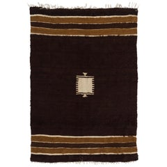 Handwoven Mohair Kilim Rug