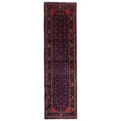 Hand Woven Runner Rug, Vintage Oriental Wool Afghan Wool Area Rug