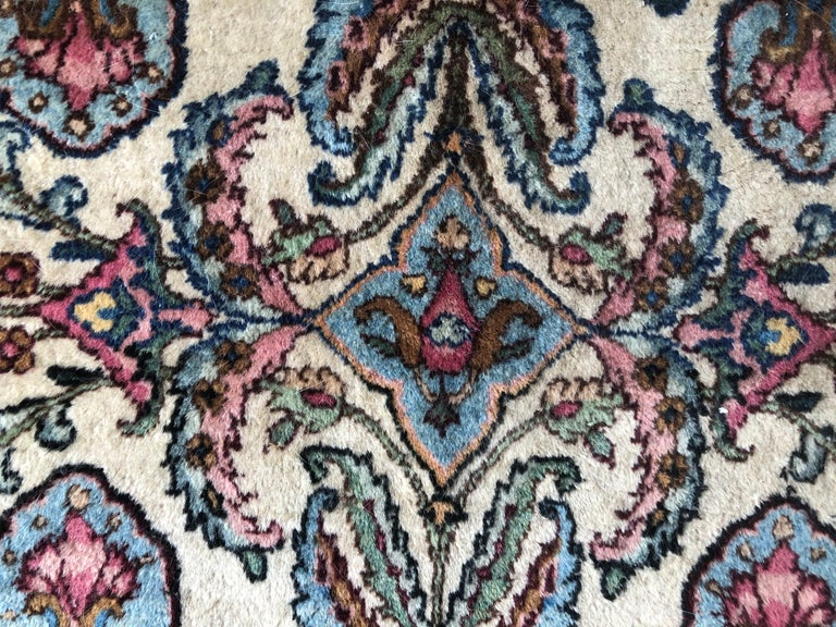 Handwoven Square Fine Wool Persian Rug For Sale 5