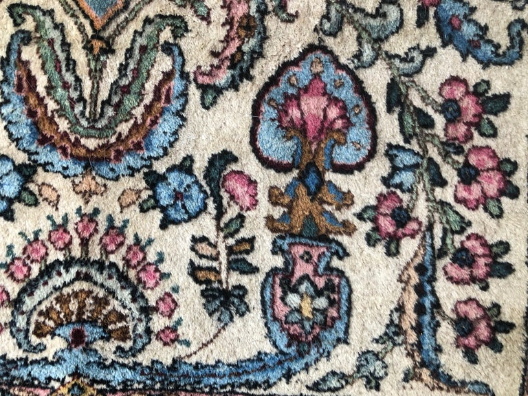 Handwoven Square Fine Wool Persian Rug For Sale 6
