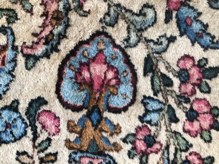 Handwoven Square Fine Wool Persian Rug For Sale 7