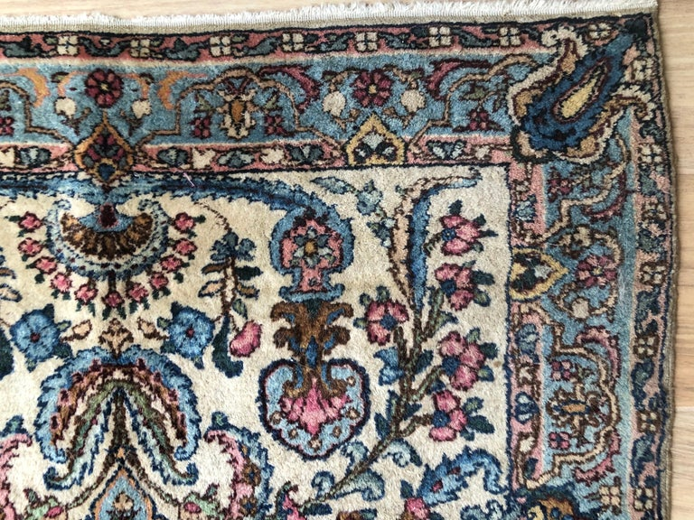 20th Century Handwoven Square Fine Wool Persian Rug For Sale