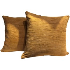 Handwoven Suede Cushions Color Ginger