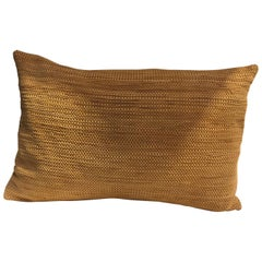 Handwoven Suede Cushions Color Ginger Rectangular