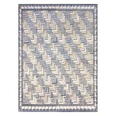 Handwoven Swedish Deco Style Wool Rug