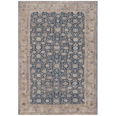 Handwoven Wool Persian Malayer Antique Rug