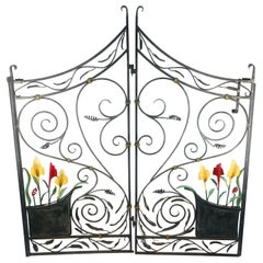 Hand Wrought 2-Piece Garden Gate Made in Orleans, Ma