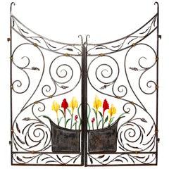 Handwrought 2-Piece Garden Gate Made in Orleans, Ma