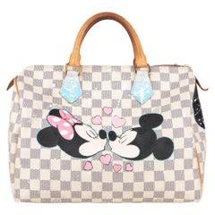 """Handbag Louis Vuitton Speedy 30 customized """"Minnie&Mickey"""" by PatBo !"""