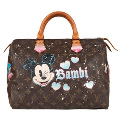 "Handbag Louis Vuitton Speedy 30 in Monogram canvas customized ""Bambi"" by PatBo !"