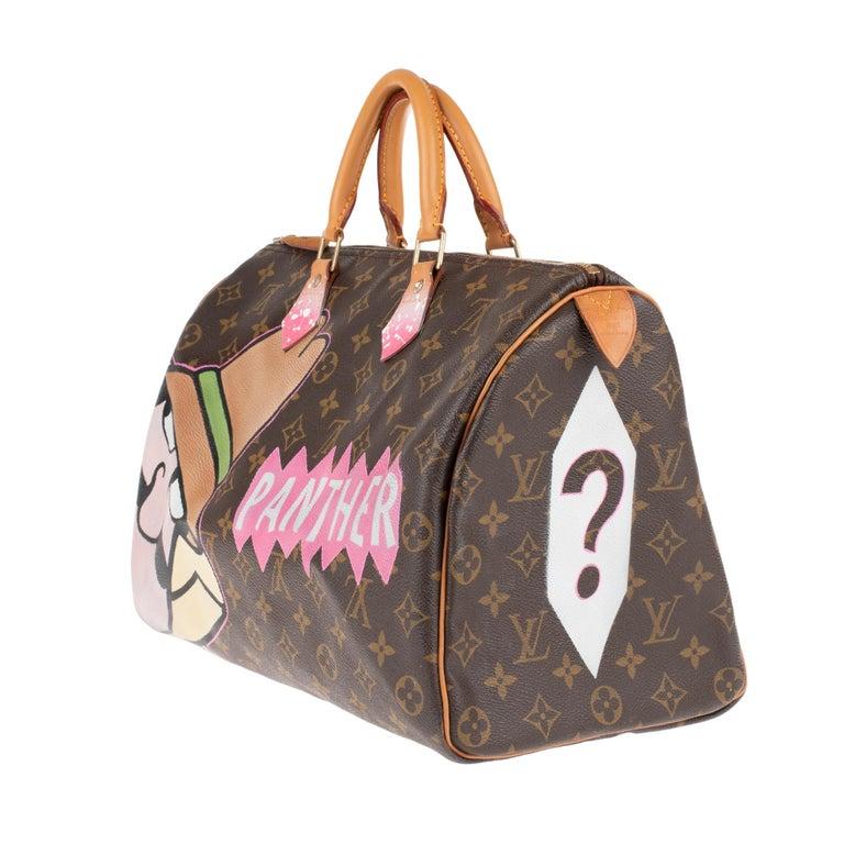 Brown Handbag Louis Vuitton Speedy 35 Monogram customized