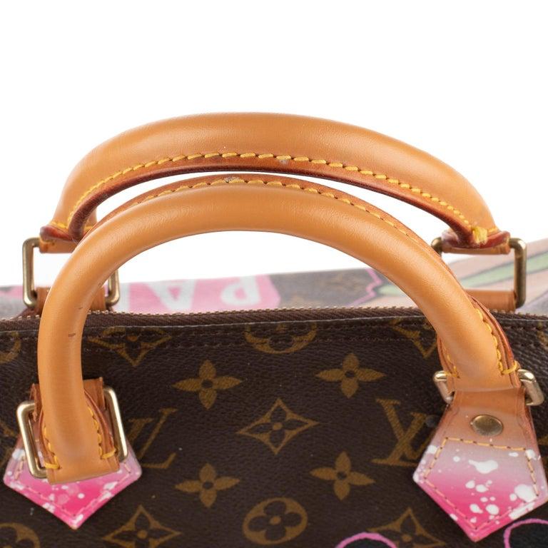 Handbag Louis Vuitton Speedy 35 Monogram customized