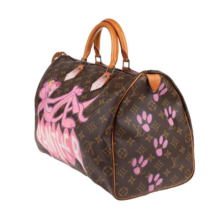Brown Handbag Louis Vuitton Speedy 40 in Monogram canvas customized
