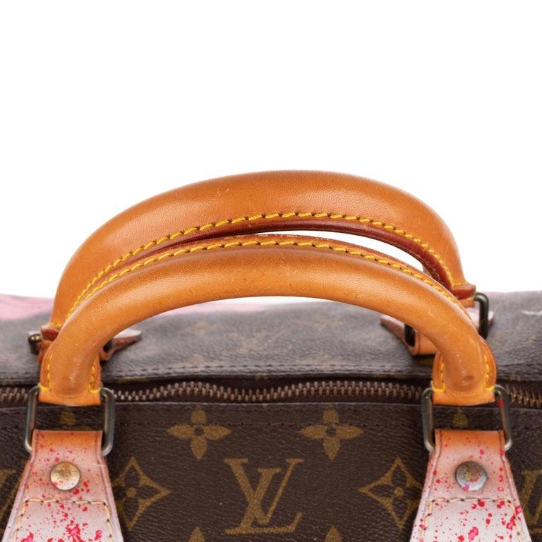 Handbag Louis Vuitton Speedy 40 in Monogram canvas customized