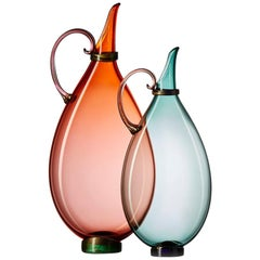 Handblown Art Glass Pitchers, Medium/Tall Vases, Options Available by Vetro Vero