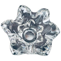 Handblown Glass Ashtray Candleholder
