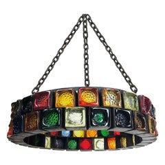 Hand Blown Glass Chandelier by Feders