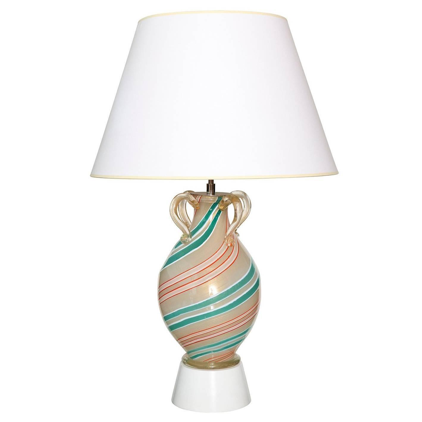 Handblown Glass Lamp by Barovier