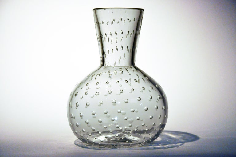 American Handblown Glass Vase For Sale
