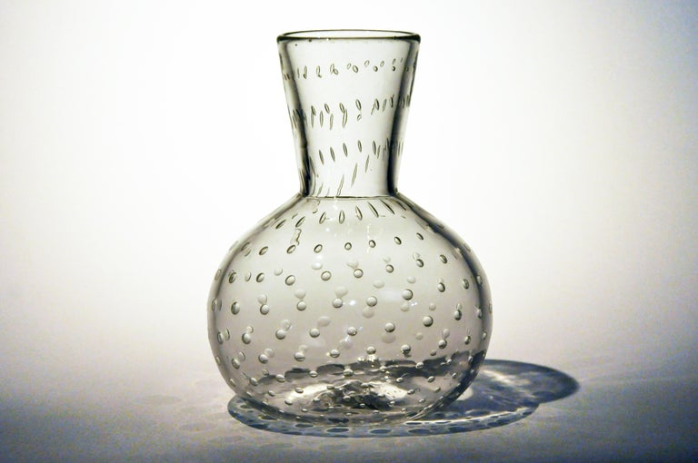 Handblown Glass Vase In Good Condition For Sale In Chicago, IL