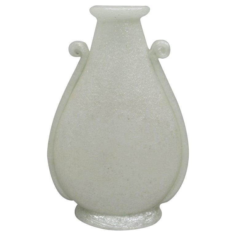 Handblown Italian Midcentury Murano Glass Vase by Napoleone Martinuzzi, Venini For Sale