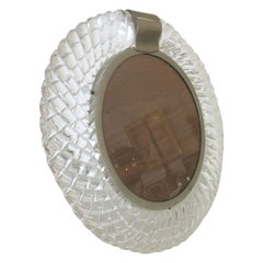 Hand Blown Murano Glass Frame or Vanity Mirror by Seguso