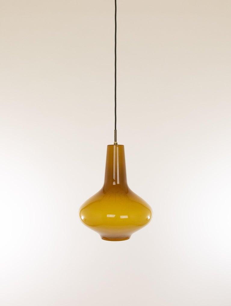 Mid-Century Modern Hand Blown Murano Glass Pendant by Massimo Vignelli for Venini, 1950s For Sale