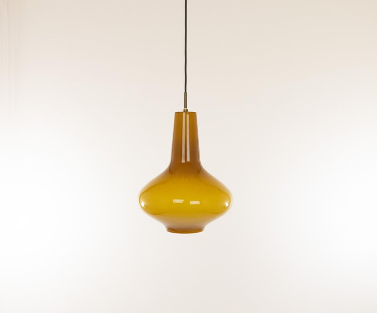 Mid-20th Century Hand Blown Murano Glass Pendant by Massimo Vignelli for Venini, 1950s For Sale