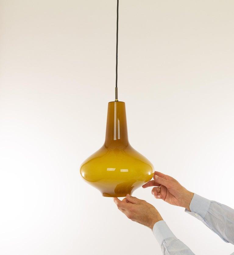 Hand Blown Murano Glass Pendant by Massimo Vignelli for Venini, 1950s For Sale 1