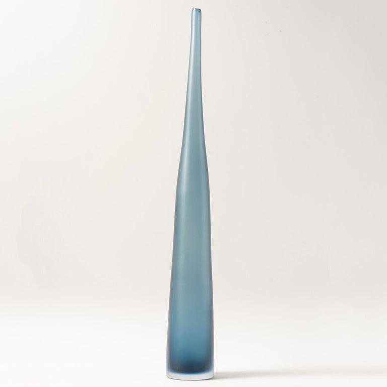 Modern Handblown Tall Murano Glass Wisteria Colored Vase For Sale