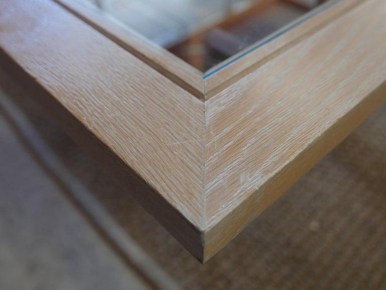 Handbuilt Custom Cerused Oak and Glass Dining Table 1