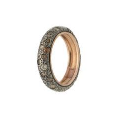 Handcraft 14 Karat Yellow Gold Diamonds Band Ring