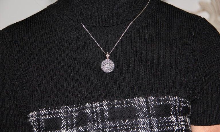 Handcraft 14 Karat Yellow Gold Rose Cut Diamonds Pendant Necklace For Sale 2