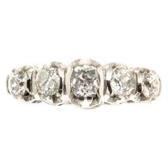 Handcraft 18 Karat White Gold Diamonds Engagement Ring