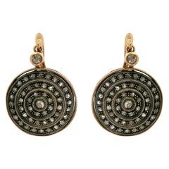 Handcraft 9 Karat Yellow Gold Diamonds Drop Earrings