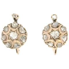 Handcraft 9 Karat Yellow Gold Diamonds Stud Earrings