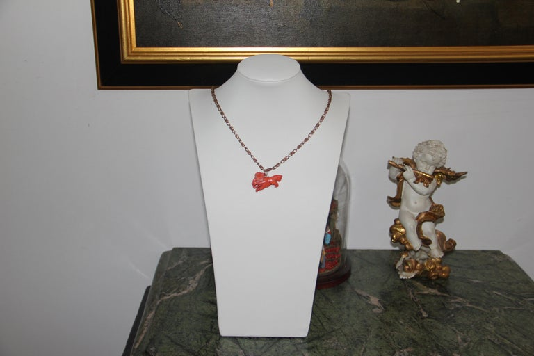 Handcraft 14 Karat Yellow Gold Pendant Necklace In New Condition For Sale In Marcianise, IT