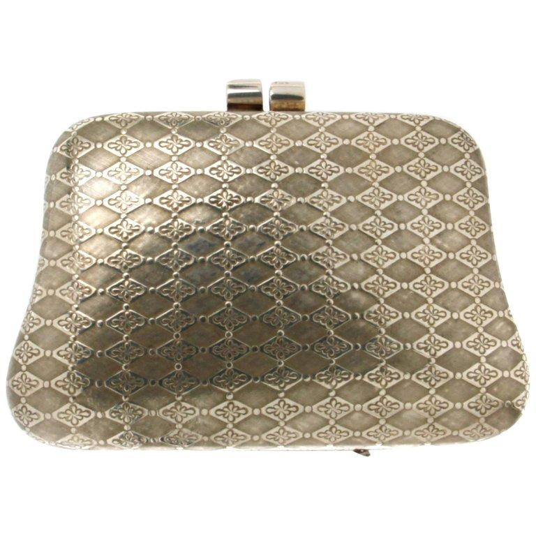 Women's or Men's Handcraft 925 Karat Silver Bag For Sale