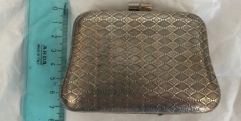 Handcraft 925 Karat Silver Bag For Sale 2