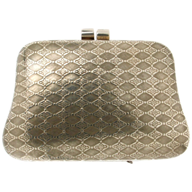 Handcraft 925 Karat Silver Bag For Sale