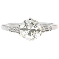 Handcraft Diamond 18 Karat White Gold Engagement Ring