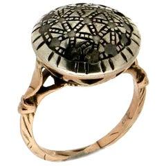 Handcraft Diamonds 14 Karat Yellow Gold Cocktail Ring