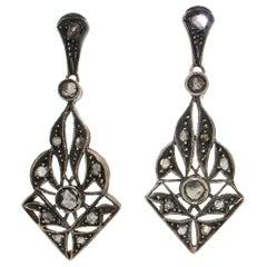 Handcraft Diamonds 14 Karat Yellow Gold Drop Earrings