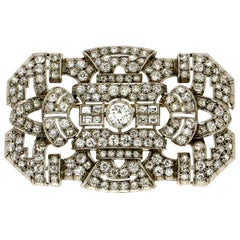 Handcraft Diamonds 18 Karat White Gold Brooch