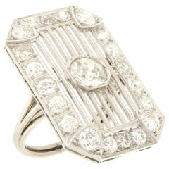 Handcraft Diamonds 18 Karat White Gold Cocktail Ring
