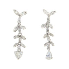 Handcraft Diamonds 18 Karat White Gold Drop Earrings