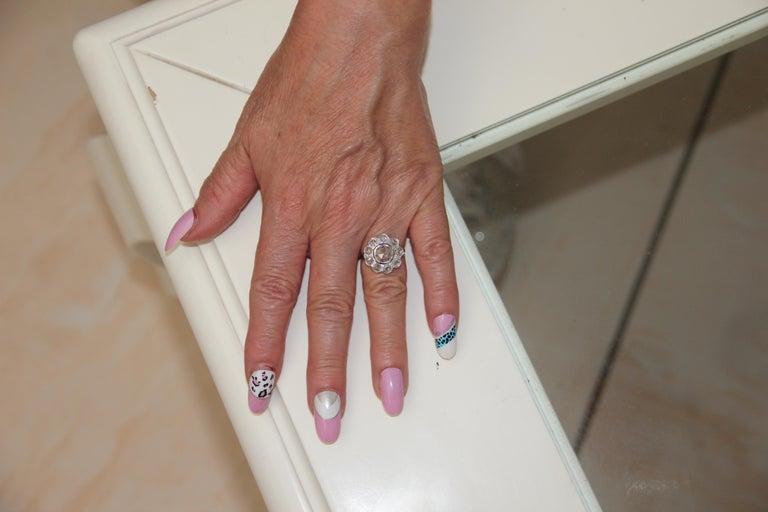 Handcraft Diamonds 18 Karat White Gold Engagement Ring For Sale 4
