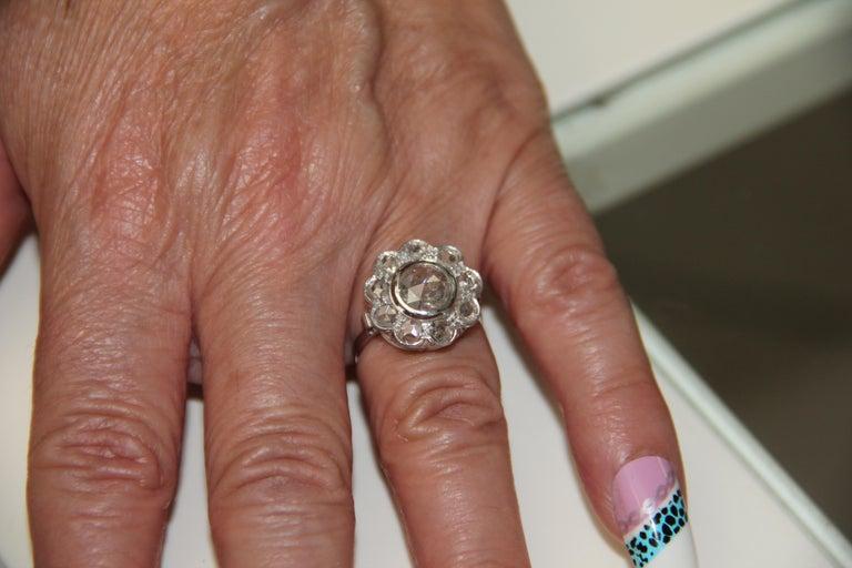 Handcraft Diamonds 18 Karat White Gold Engagement Ring For Sale 5